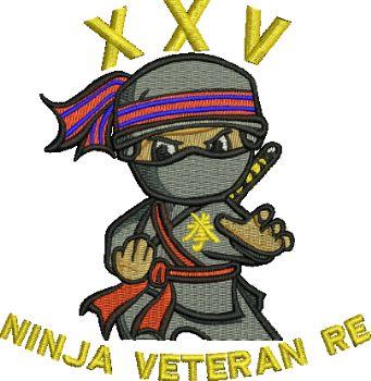 Ninja Veteran RE embroidered Polo Shirt
